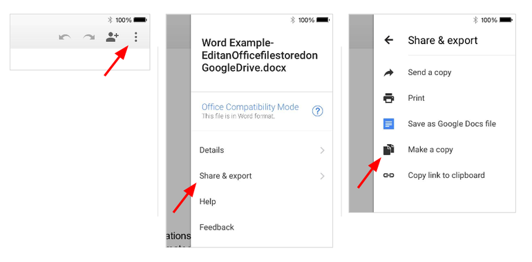 How to edit Microsoft Office documents stored on Google